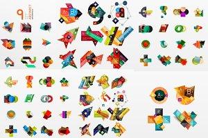 Modern paper graphics set