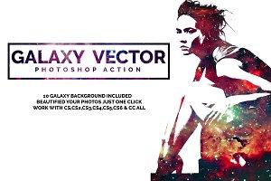 Galaxy Vector Photoshop Action