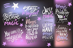Magic quotes set. 8 quotes