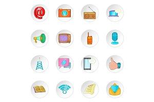 Advertisement icons, cartoon style