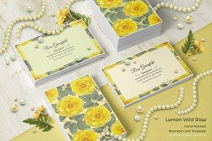 Lemon Wild Rose PSD Business Card