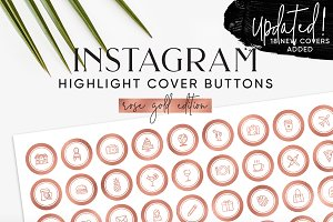 Rose Gold Instagram Highlight Covers