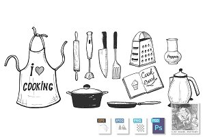 Kitchen utensils and kitchenware