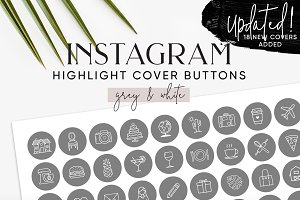 132 Grey Instagram Highlight Covers
