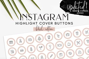 132 Blush Instagram Highlight Covers