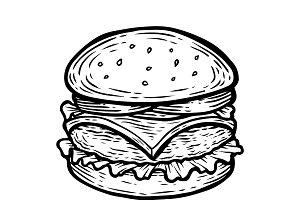 Hamburger eps illustration