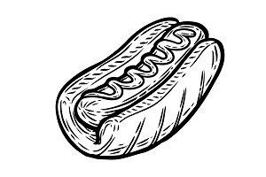 Hot dog eps illustration