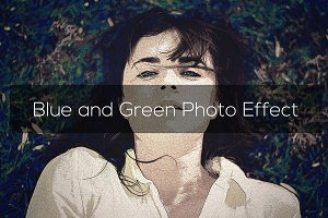 Blue and Green Photo Effect