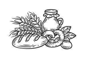 Fresh organic food illustration