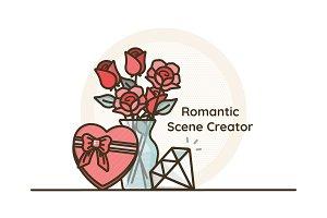 Romantic Icon Design Scene Creator