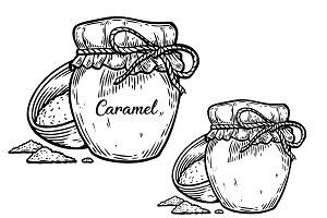 Salted caramel illustration