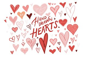 Hand Drawn Hearts Pack