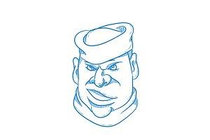 Angry Sailorman Head Cartoon