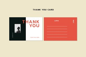 LUNA MAY - Thank you card template