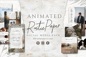 ANIMATED Rustic Paper Instagram Pack