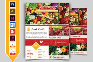 Fresh Food Grocery Shop Flyer Vol-01