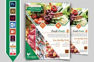 Fresh Food Grocery Shop Flyer Vol-02