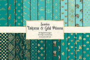 Turquoise & Gold Princess Patterns