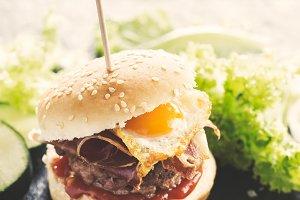 Delicious small burger