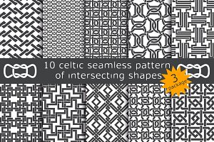 10 celtic patterns. Package 3