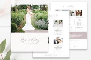 Wedding Collections Pricing Template