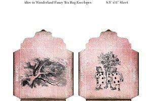 Digital Alice In Wonderland Tea Bags