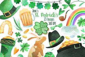 Watercolor St. Patricks Clipart
