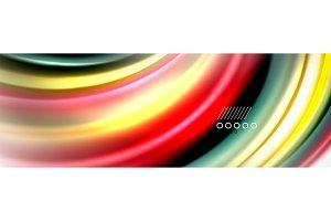 Smooth liquid blur wave background