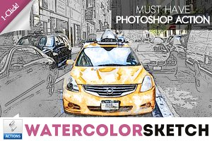 Watercolor Sketch Photoshop Action