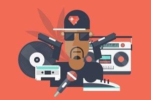 Rap and hip-hop music.