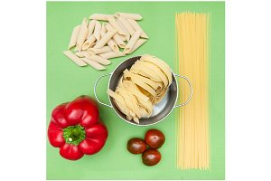 Dry pasta of different types