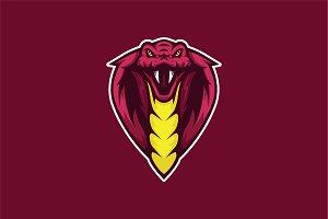 Snake Head Mascot & Esport Logo
