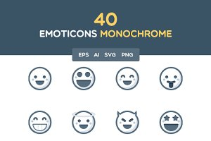 Emoticons monochrome