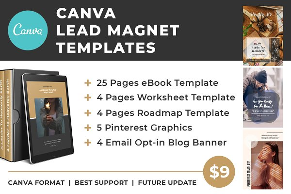 Lead magnet canva templates