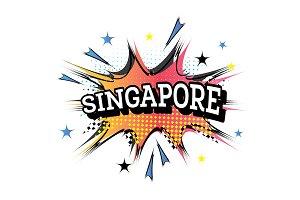 Singapore Comic Text in Pop Art