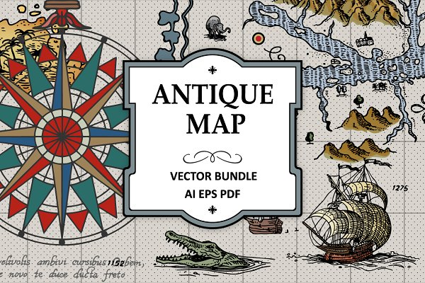 Illustrations: Vector Clash - Antique Maps Vector Bundle
