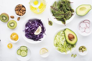Clean food. Fresh raw vegetables and