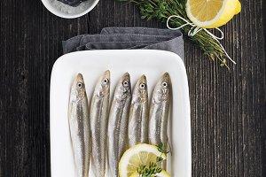 Smelt. Fresh sea small fish for