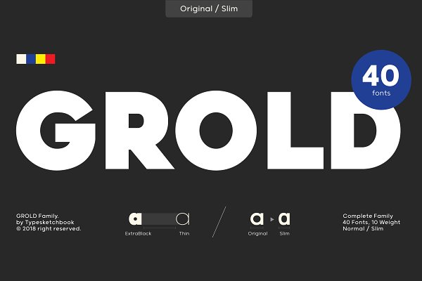 Sans Serif Fonts: Typesketchbook Foundry - Grold