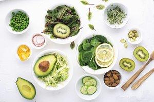 Green ingredients for spring detox