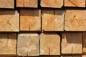 Big wooden squares blocks -