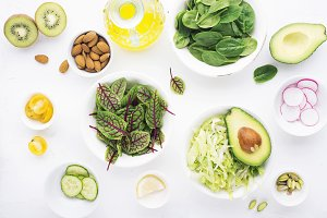 Healthy food. Ingredients for a