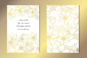 Golden Anemone Card Template