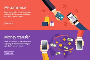 Banner m-commerce and money transfer