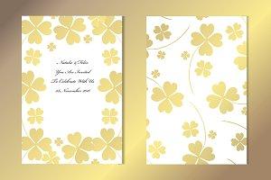 Golden Lucky Clover Card Template