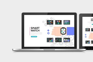 Smart watch colorful concept