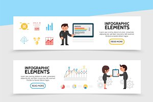 Infographic horizontal banners