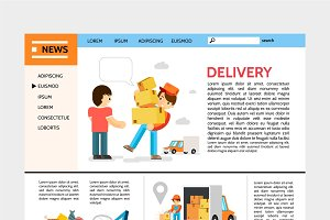 Delivery service website template