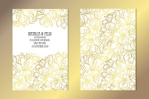 Golden Clivia Card Template