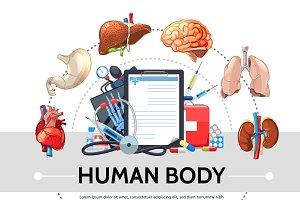 Cartoon healthcare elements concept